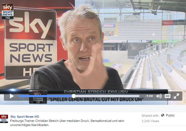 sky-sport-news hd interview nacktbaden christian streich medien druck
