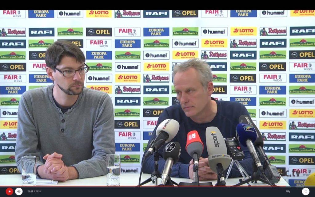 PK Hoffenheim vs. SC Freiburg (nach dem Spiel)