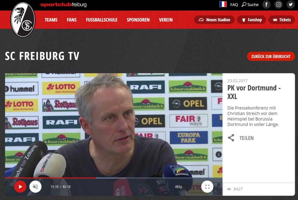sportclub freiburg fanshop